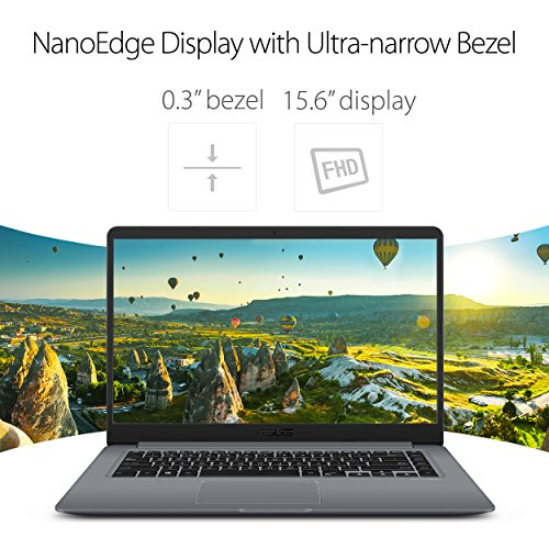 "ASUS VivoBook F510UA 15.6"" Full HD Nanoedge Laptop, Intel Core i5-8250U Processor, 8GB DDR4 RAM, 1TB HDD, USB-C, Fingerprint, Windows 10 Home - F510UA-AH51, Star Gray"