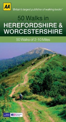 50 Walks in Herefordshire & Worcestershire (AA 50 Walks Series) [Idioma Inglés]: 50 Walks of 2-10 Miles