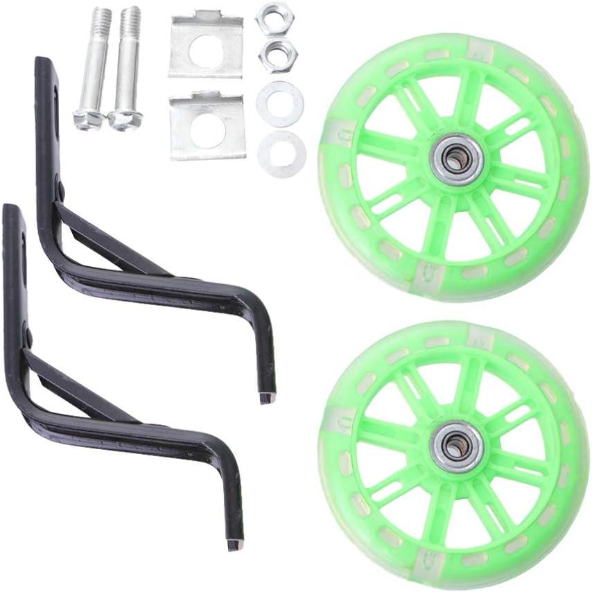 IMIKEYA 2pcs Bicycle Training Wheels Wheel Light Reservation Mute Flashing w Cheap sale
