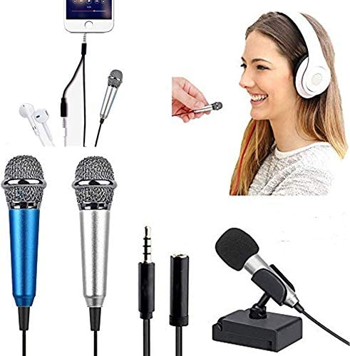 2PCS Mini Microphone with omnidirectional Stereo Microphone Mini Karaoke Microphone Suitable product image