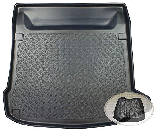 ZentimeX Z3332047 Geriffelte Kofferraumwanne fahrzeugspezifisch + Klett-Organizer (Laderaumwanne, Kofferraummatte)