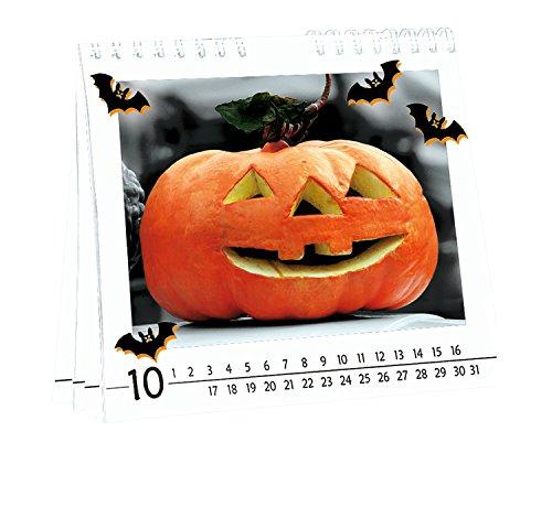 URSUS Bastelkalender immerwährend, Wand- und Tischkalender weiß 14x16,5cm