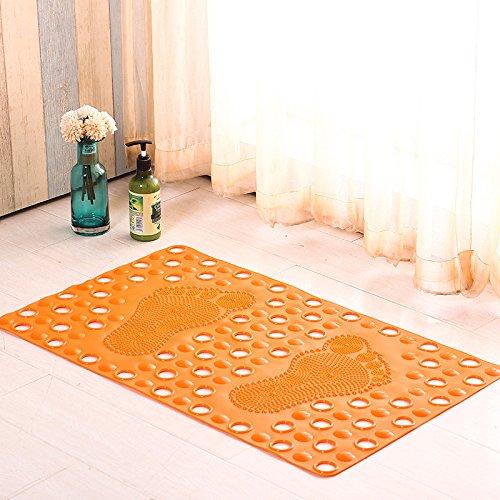 zfq Badezimmer Massage PVC-Badezimmer-Schleuder-Badezimmer-maßgeschneiderte Home-dusche Sicker-Bad-Schleuder-Bad-Zimmer 36 * 66cm Real Color Orange