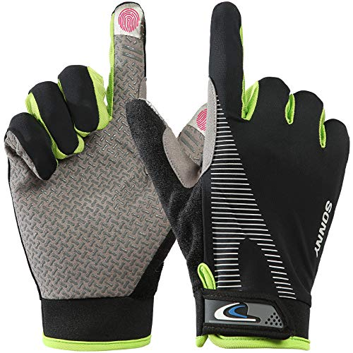 Lorpect Workout Gloves, Full Finger Workout Gloves ,Full Palm Protection & Extra Grip, Gym Gloves for Weight Lifting, Training, Fitness, Exercise,Bicycle Golf Gloves (Men & Women)