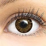Dunkelbraune Farbige Kontaktlinsen Choco Dunkelbraun Sehr Stark Deckende SILIKON COMFORT NEUHEIT von...