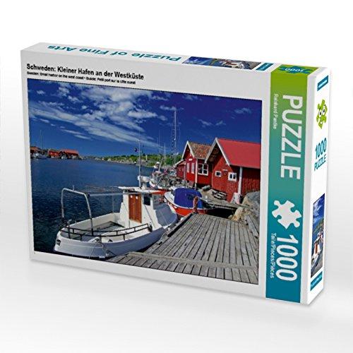 CALVENDO Puzzle Schweden: Kleiner Hafen an der Westküste 1000 Teile Lege-Größe 64 x 48 cm Foto-Puzzle Bild von Reinhard Pantke