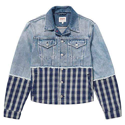 Pepe Jeans Jess Pl401684 Chaqueta, (11oz Check Mix Denim 000), X-Small para Mujer