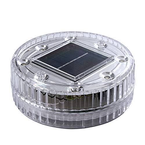 Chanhan Solar Schwimmende Teichleuchte 6 LED Wasser schwimmende Kugellampe Solar Garten Pool Licht Hängeleuchte für Hof, Teich, Garten, Pool, Brunnen weiß