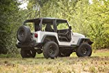 Rugged Ridge 11509.20 Front Locking Tube Door Kit, Black Textured, for 97-06 Jeep Wrangler TJ/04-06 LJ
