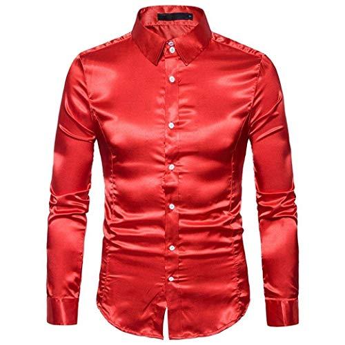 Camisas De Manga Larga para Hombres Camisa De Fiesta Hombres Moderna Camisa...