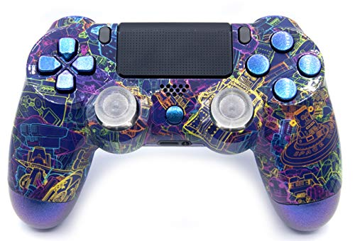 Techno Playstation 4 V2 Rapid Fire Modded Controller for COD Black Ops3, Infinity Warfare, AW, Destiny, Battlefield: Quick Scope, Drop Shot, Auto Run, Sniped Breath, Mimic, More