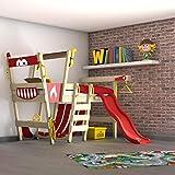 WICKEY Hochbett mit Rutsche CrAzY Smoky Kinderbett 90 x 200