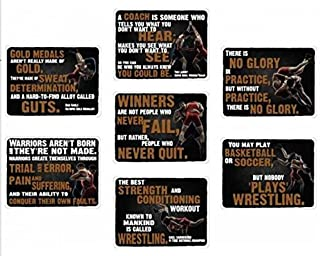 VictoryStore Yard Sign Outdoor Lawn Decorations - 7-Sign Wrestling Room Motivational Signs