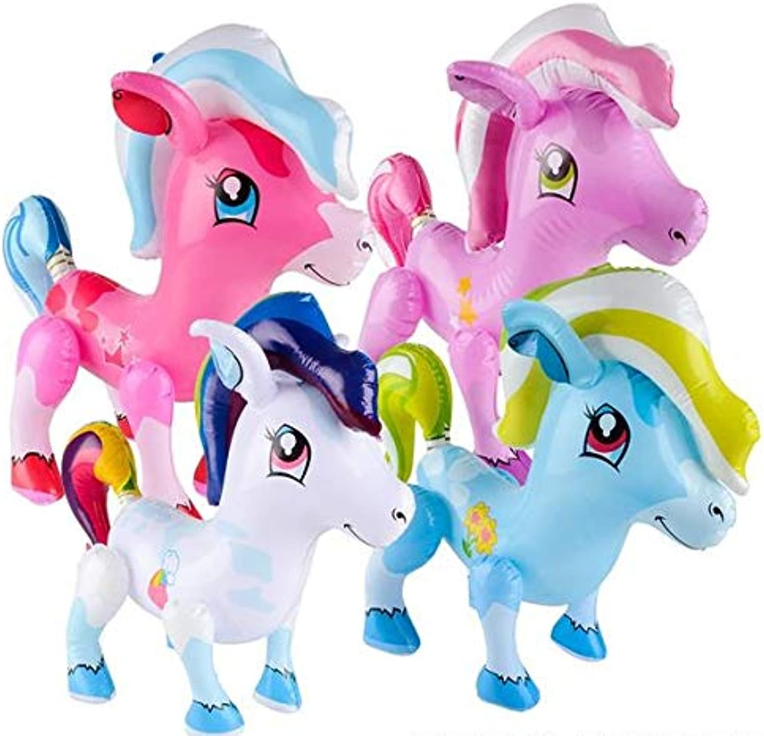 Rhode Island Novelty Large Inflatable Ponies   Party Favor   Decoration   Pack of 12   Assorted colors