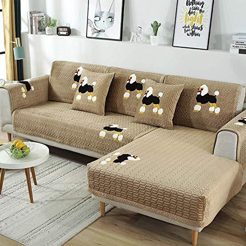 MKXF Ecksofabezug Anti-Rutsch-Sofa Schonbezug L-Form Sofa -110x160cm