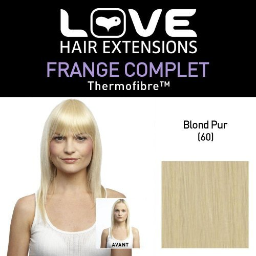 Love Hair Extensions Thermofiber Clip-In-Vollpony Farbe 60 - klares Blond, 1er Pack (1 x 1 Stück)