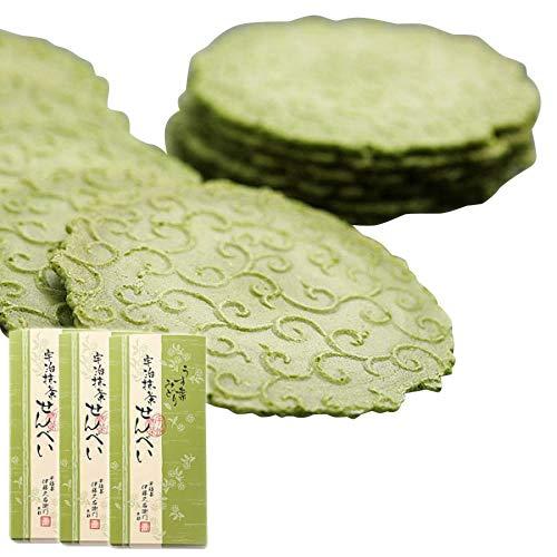 伊藤久右衛門 御歳暮 宇治抹茶せんべい うす葉みどり 煎餅 24枚 化粧箱 3箱セット