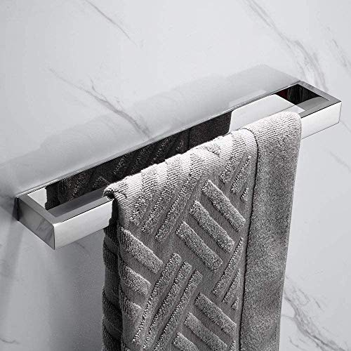Melairy Handtuchhalter Ohne Bohren Gästehandtuchhalter Edelstahl Schwarz Handtuchstange Selbstklebend (Chrom, 40CM)