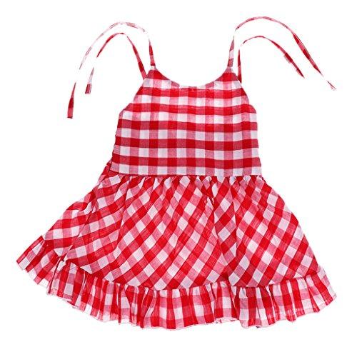 Niñas Bebé Vestido De Verano Volantes VAccesorios de Decor