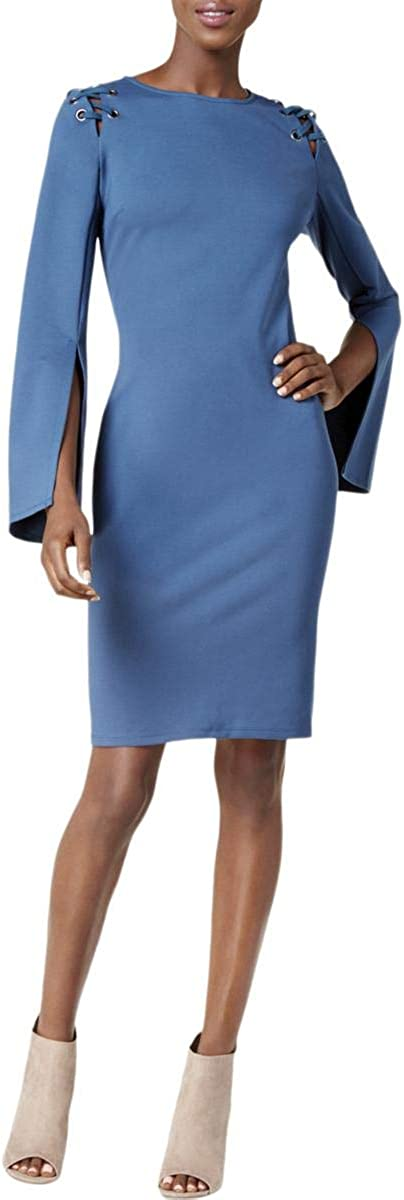 bar III Womens Laced Shoulder Bodycon Dress