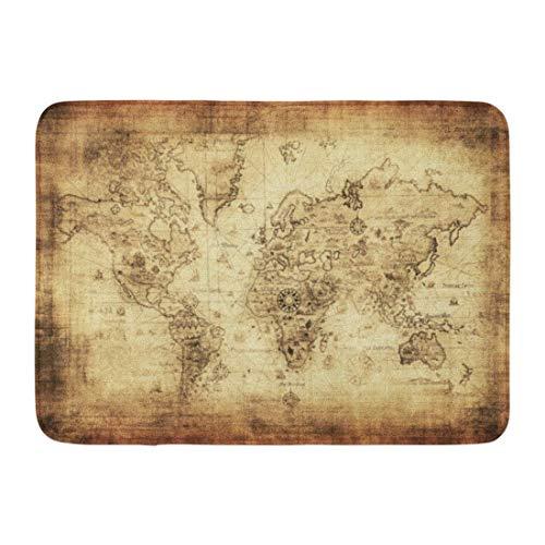 Alfombrillas Alfombras de baño Alfombrilla para Exteriores/Interiores Antiguo Mapa Antiguo del Mundo Vintage Antiguo América Atlas Europa Decoración de baño Alfombra Alfombra de baño