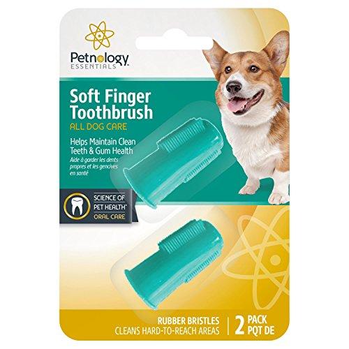 Petnology Zahnpflege-Set, Finger Brush, Mix