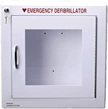 Alarmed AED Defibrillator Wall Mounted Storage Cabinet Fit for Philips and HeartSine