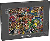 Puzzle 1000 Teile Sportcollage auf Einer großen Ziegelwand, Graffiti - Klassische Puzzle, 1000 / 200 / 2000 Teile, edle Motiv-Schachtel, Fotopuzzle-Kollektion 'Kunst'