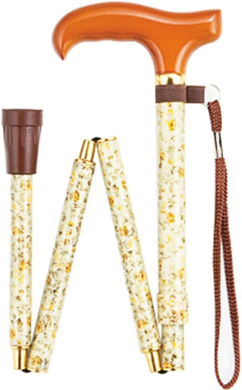 NKDK Cane Retractable Safety Cane Foldable AntiSkid Walking Stick Walker Walking Stick 10 Crutch
