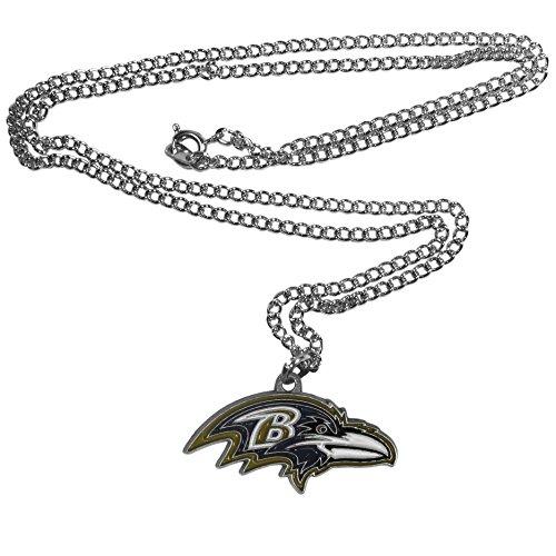 NFL Siskiyou Sports Fan Shop Baltimore Ravens Chain Necklace 22 inch Team Color