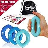 3 in 1 Handmuskeltrainer & Fingertrainer (14-23kg) - Handtrainer Ring & Unterarm Trainingsgerät aus...