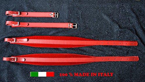 Gurte für Akkordeon Akkordeongurte Akkordeonriemen 6CM DELUXE 100% italienische Produktion