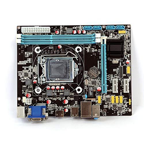 healthwen Placa Base para computadora de Escritorio LGA 1150 Original USB3.0 SATA2.0 CPU Placa Base Compatible con Salida HDMI VGA para Intel Core Negro
