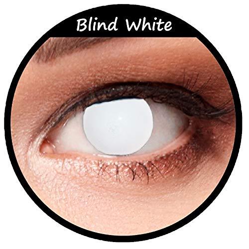 Weiße farbige Kontaktlinsen für Halloween Farblinsen in weiß Model: Blind White + gratis Kontaktlinsenbehälter (innerhalb Dt.)