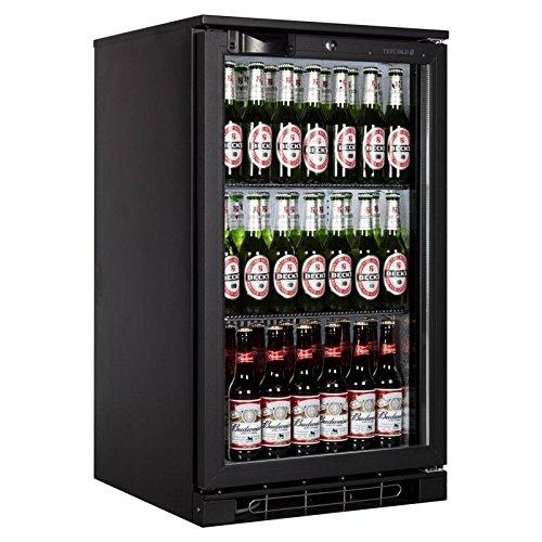 Tefcold BA05 Bar en Counter Display Chiller gekoeld Display met zwart glas deur 870(H) x500(W) x520(D) 100 liter 2 planken -2 jaar Onderdelen Garantie Inbegrepen
