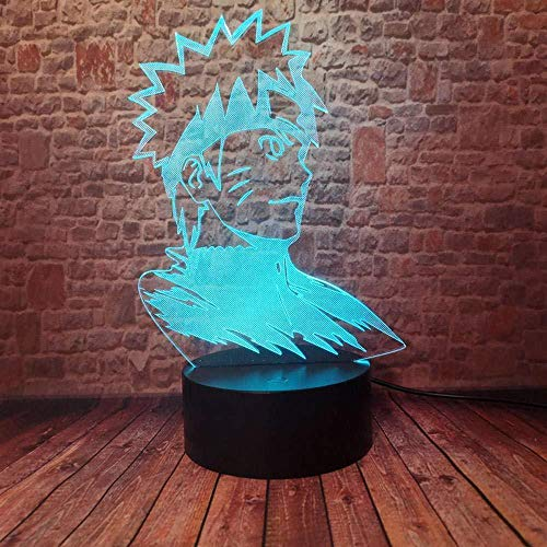 Naruto Anime Whirlpool Naruto Statue Puppe 3D Illusion Licht LED 7 Farbe USB Touch Fernbedienung Lampe Kind Kind Geburtstag (ZYJHD)
