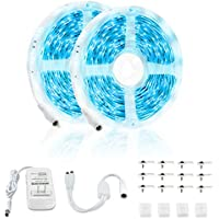 SHOPLED 32.8ft 6500K Dimmable Super Bright White LED Strip Lights