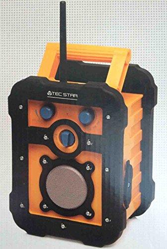 MEDION Baustellenradio Freizeitradio MD 83327 Batterie Netz MP3 gelb