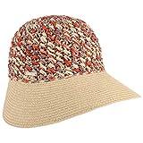 Seeberger Sombrero de Paja Multicolour Crochet Verano Mujer