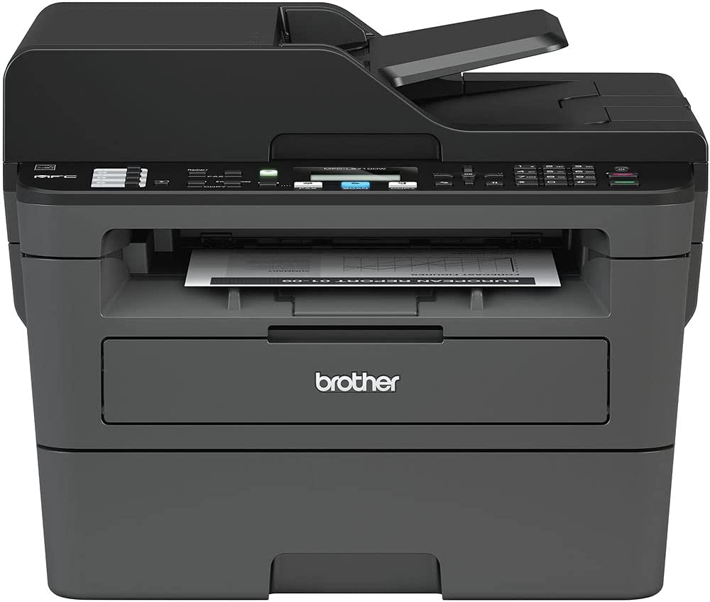 Brother MFC-L2710DW All-in-One Monochrome Laser Printer (MFC-L2710DW) + Network Cable + Deluxe Cleaning Kit + Tie Straps + More