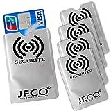 Lot de 5 - Protection Carte de crédit NFC RFID sans Contact Carte Bleue visa mas.