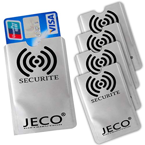 Lot de 5 - Protection Carte de crédit NFC RFID sans Contact