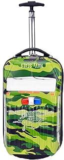 YCYHMYF Luggage Boarding case Trolley case car Shape 18 inch Green