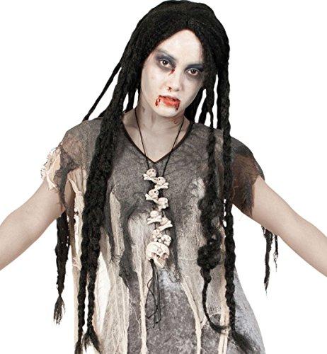 Freaky carnaval perruque longs cheveux 35686 noir dreadlocks neuf/emballage d'origine