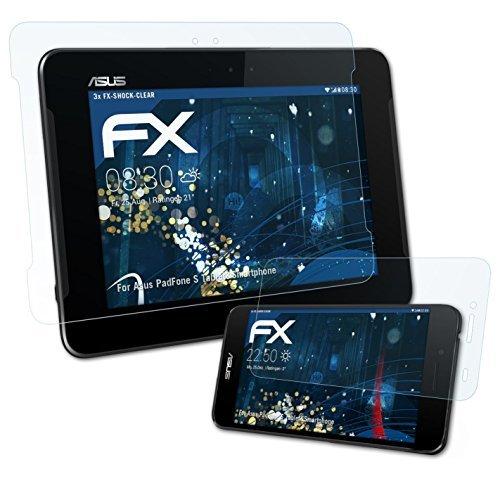 atFolix Schutzfolie kompatibel mit Asus PadFone S/PadFone X (US) Folie, ultraklare FX Bildschirmschutzfolie (3er Set)