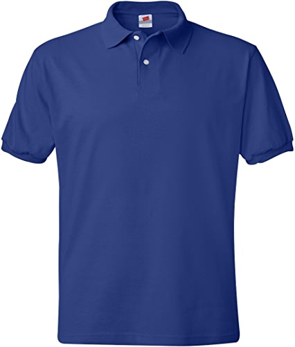 Hanes Adult ComfortBlend Ecointelligent Jersey Polo Shirt, Deep Royal, XX-grand