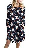 Viottiset - Vestito da skateboard a maniche lunghe, da donna 01 blu con custodia. S