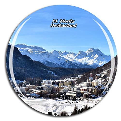 Weekino Svizzera St. Moritz Calamità da frigo 3D Cristallo Bicchiere Tourist City Viaggio Souvenir Collezione Regalo Forte Frigorifero Sticker