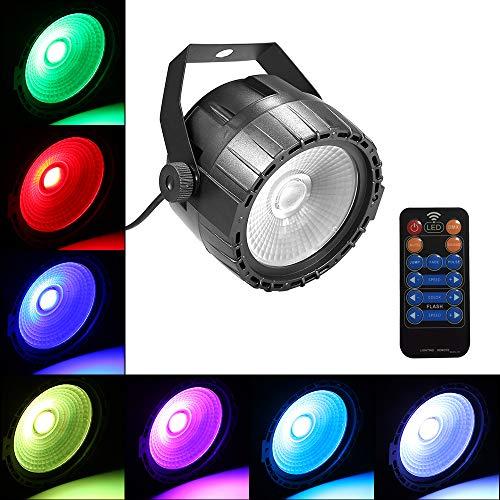 Ledlamp met ledverlichting, 10 watt, RGB, uv, COB, met afstandsbediening, DJ-lichten, party's, discolampen, led-podiumlamp, DMX,8 kanalen, geluid geactiveerd, dimmer, COB-RGB ledlicht, voor feestjes