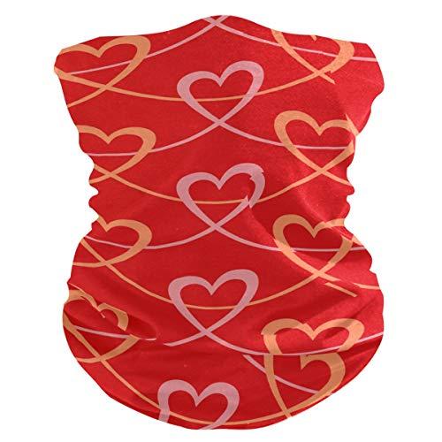 LZXO - Bandana con diseño de corazón y beso sin costuras, para exteriores, pasamontañas, protector de cuello, bufanda, para protección contra el polvo, el viento y el sol